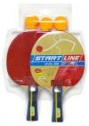 Набор для н/т Start Line (2 р-ки Level 200, 3 мяча Club Select)